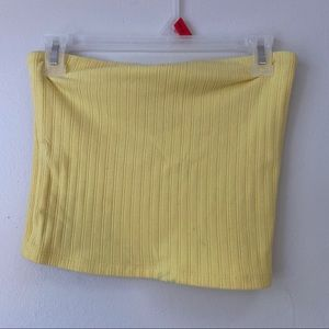 Yellow tube top from American Eagle
